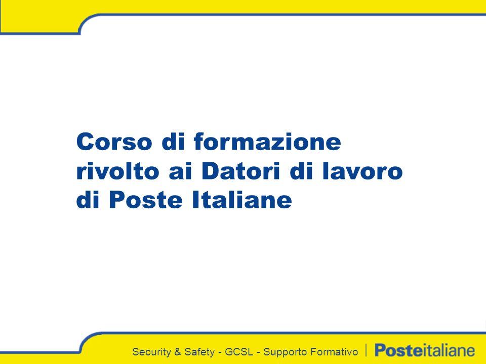 Corso di formazione rivolto ai Datori di lavoro di Poste Italiane