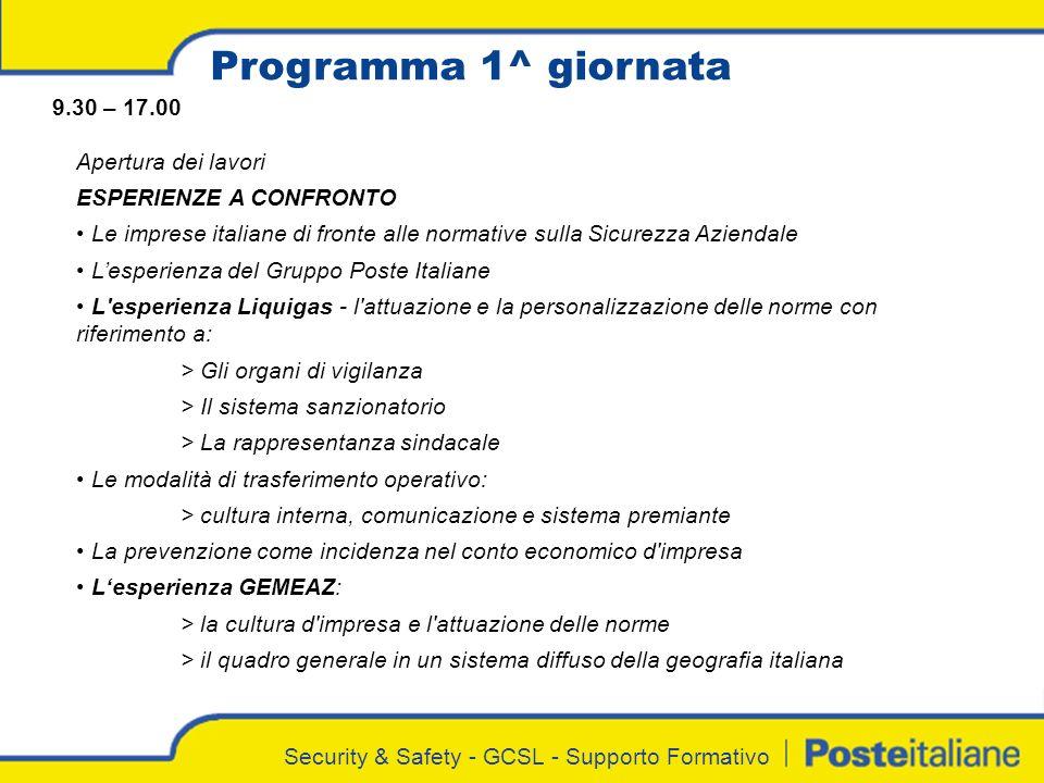 Programma 1^ giornata 9.30 – 17.00 Apertura dei lavori