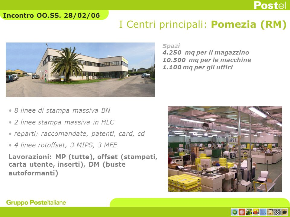 I Centri principali: Pomezia (RM)