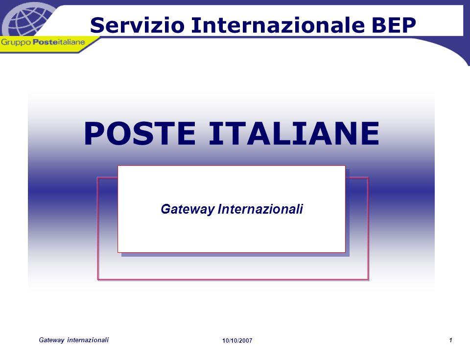 Servizio Internazionale BEP Gateway Internazionali