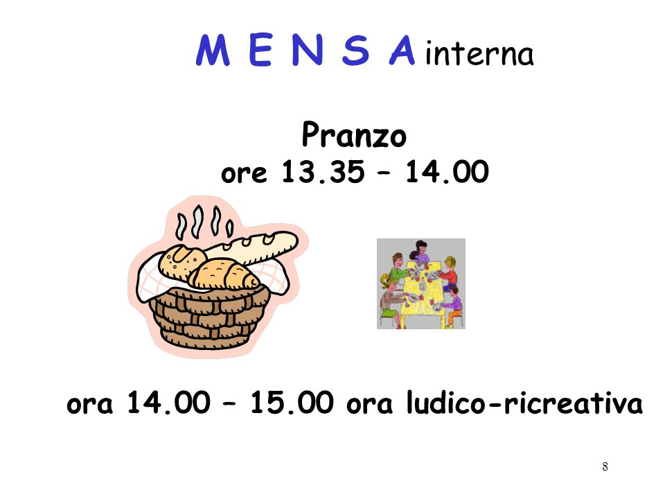 ora 14.00 – 15.00 ora ludico-ricreativa