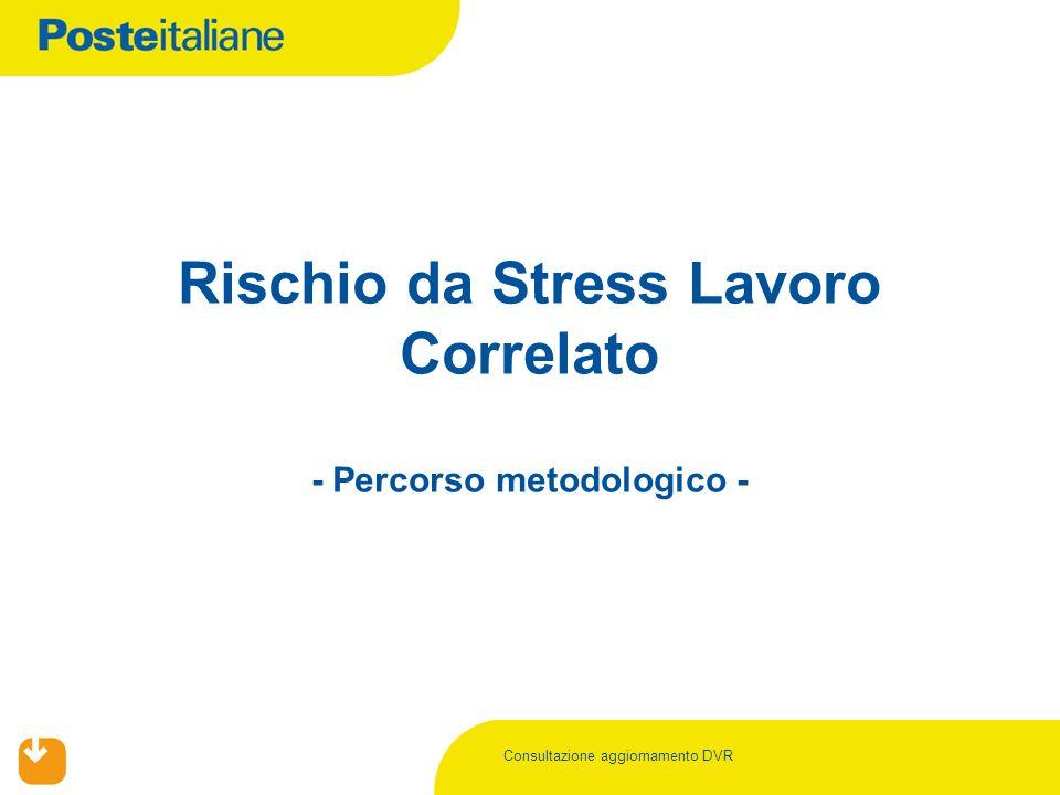 Rischio da Stress Lavoro Correlato - Percorso metodologico -