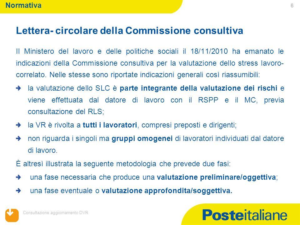 Lettera- circolare della Commissione consultiva