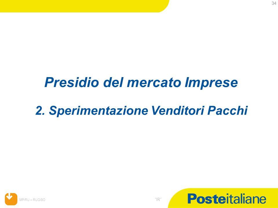 Presidio del mercato Imprese 2. Sperimentazione Venditori Pacchi