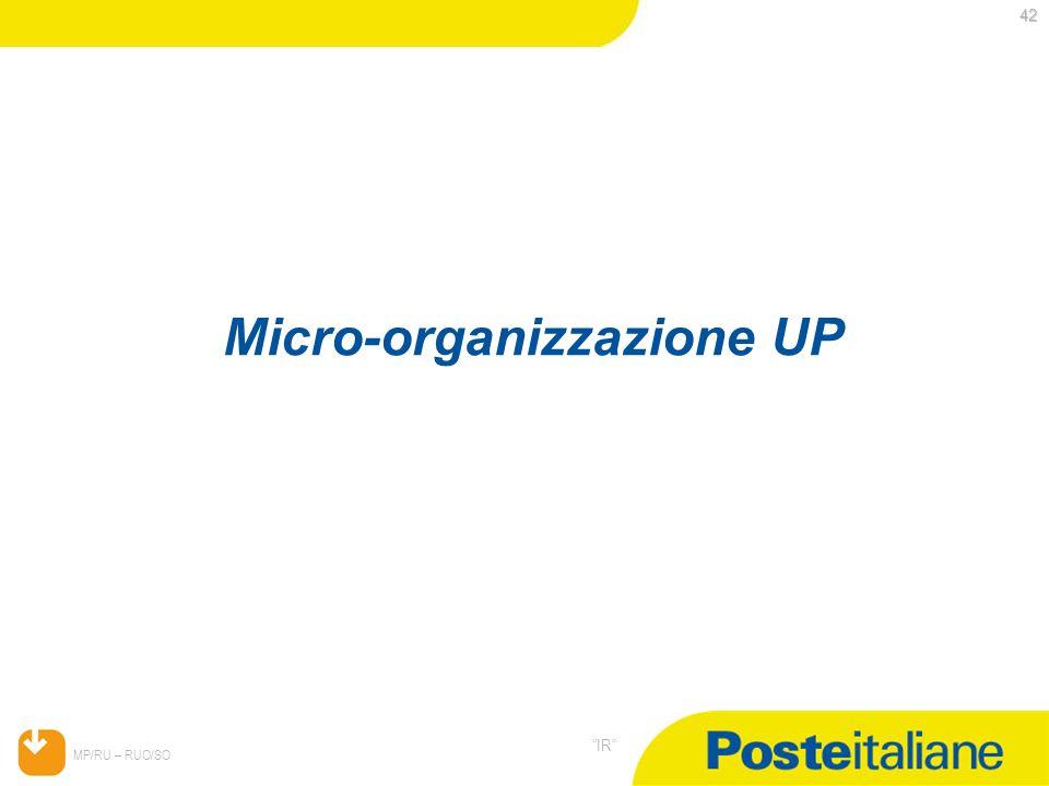 Micro-organizzazione UP