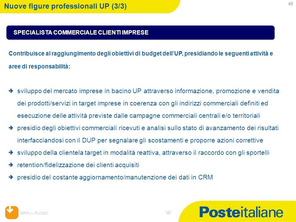 Nuove figure professionali UP (3/3)