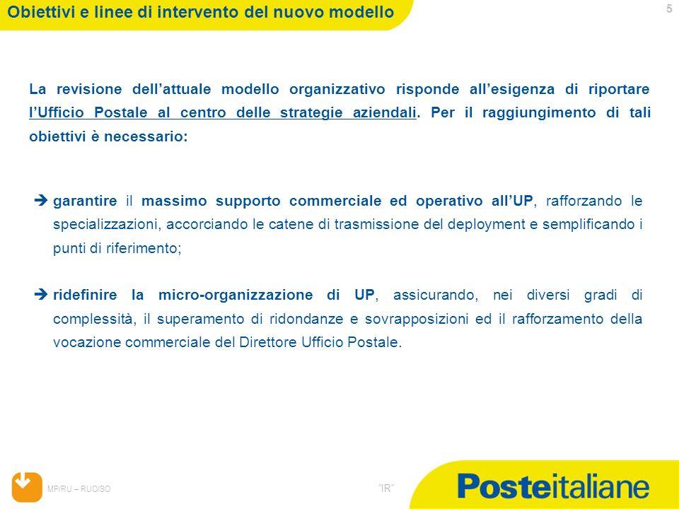 Obiettivi e linee di intervento del nuovo modello