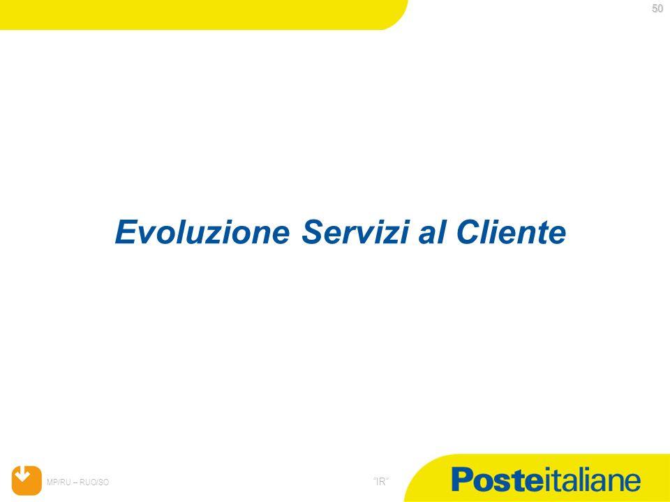 Evoluzione Servizi al Cliente