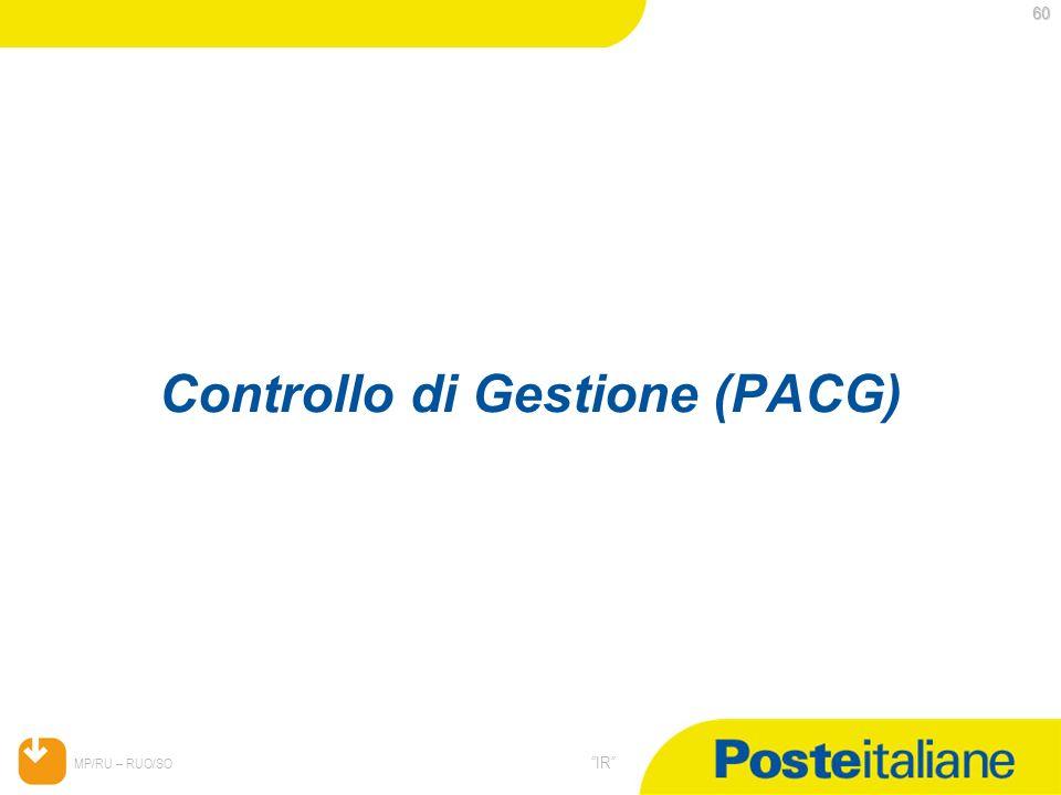 Controllo di Gestione (PACG)