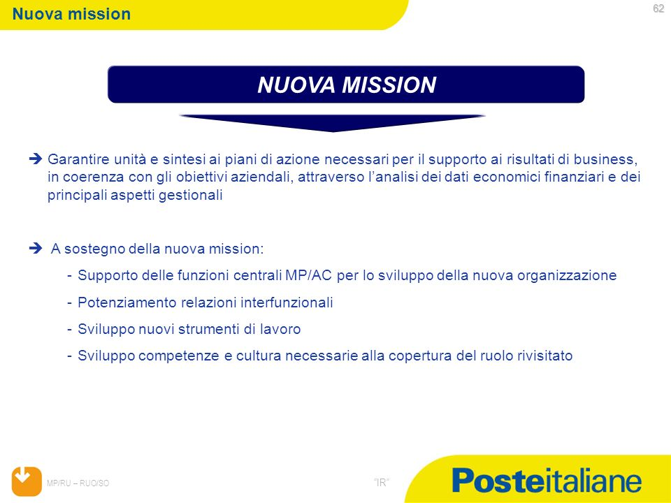 NUOVA MISSION Nuova mission