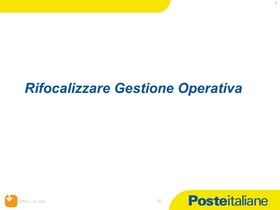 Rifocalizzare Gestione Operativa