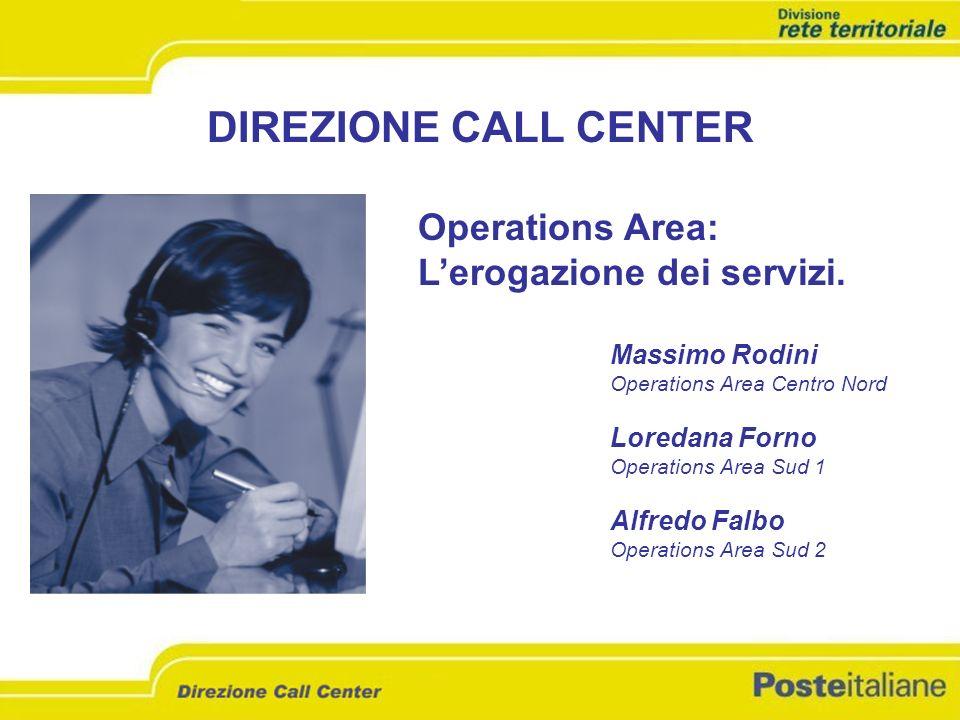 DIREZIONE CALL CENTER Operations Area: L'erogazione dei servizi.