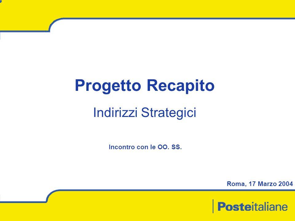 Progetto Recapito Indirizzi Strategici Incontro con le OO. SS.