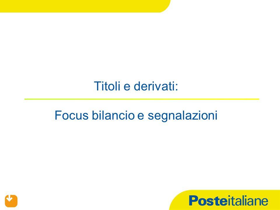 Titoli e derivati: Focus bilancio e segnalazioni