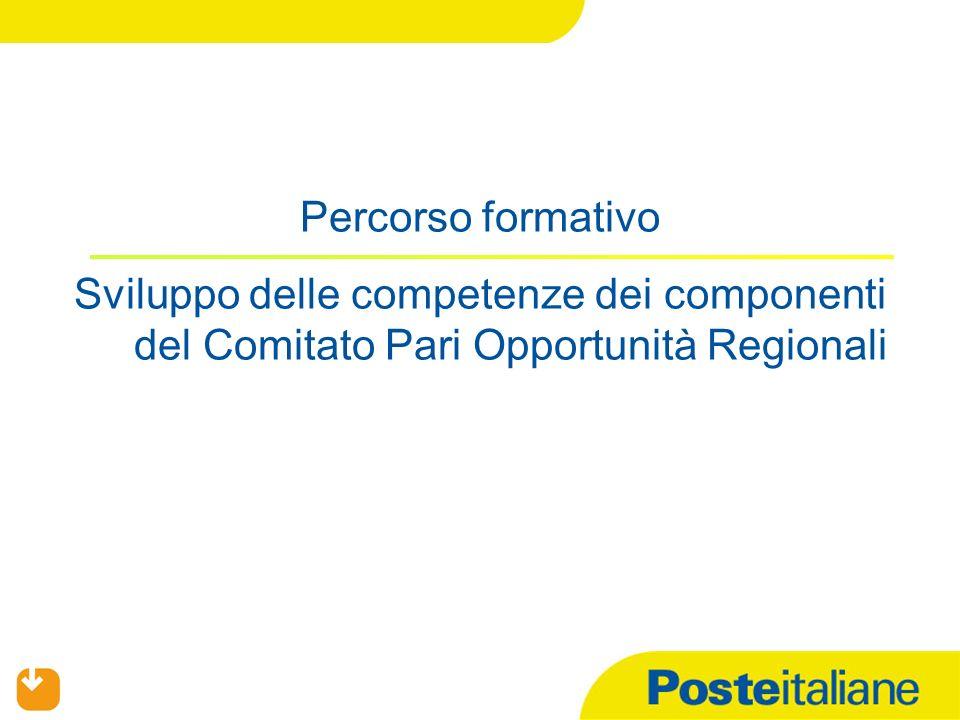 Percorso formativo Sviluppo delle competenze dei componenti del Comitato Pari Opportunità Regionali.