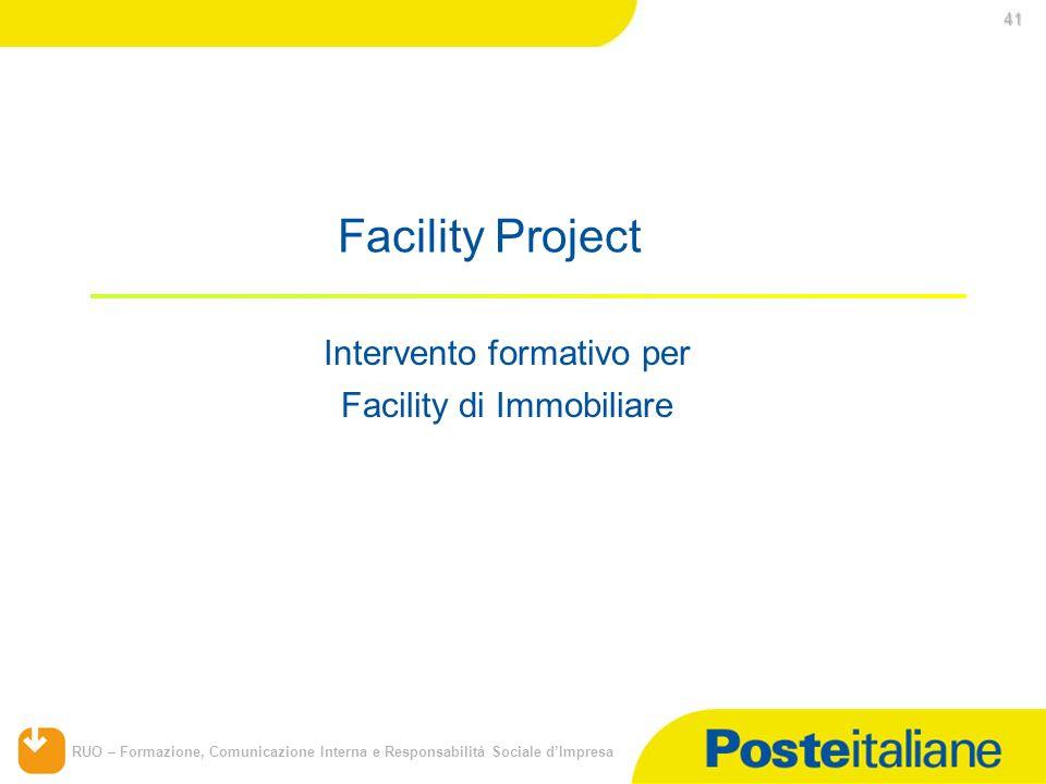 Facility Project Intervento formativo per Facility di Immobiliare