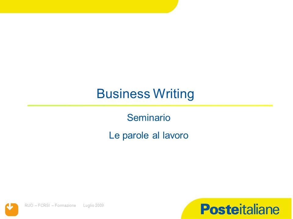 Titolo presentazione Seminario Le parole al lavoro