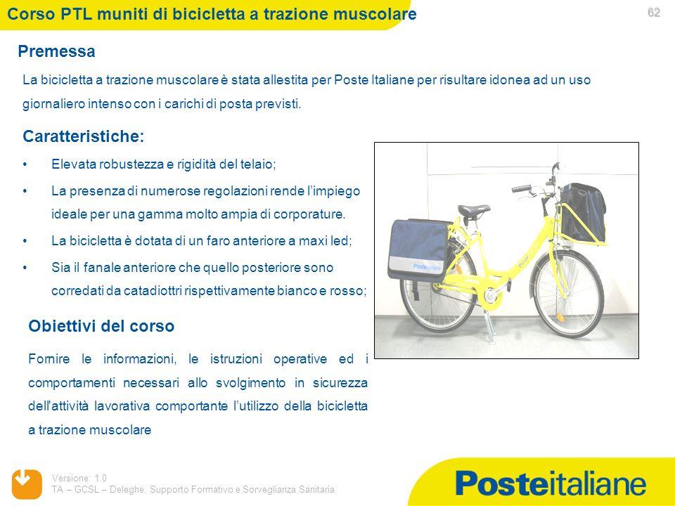Corso PTL muniti di bicicletta a trazione muscolare