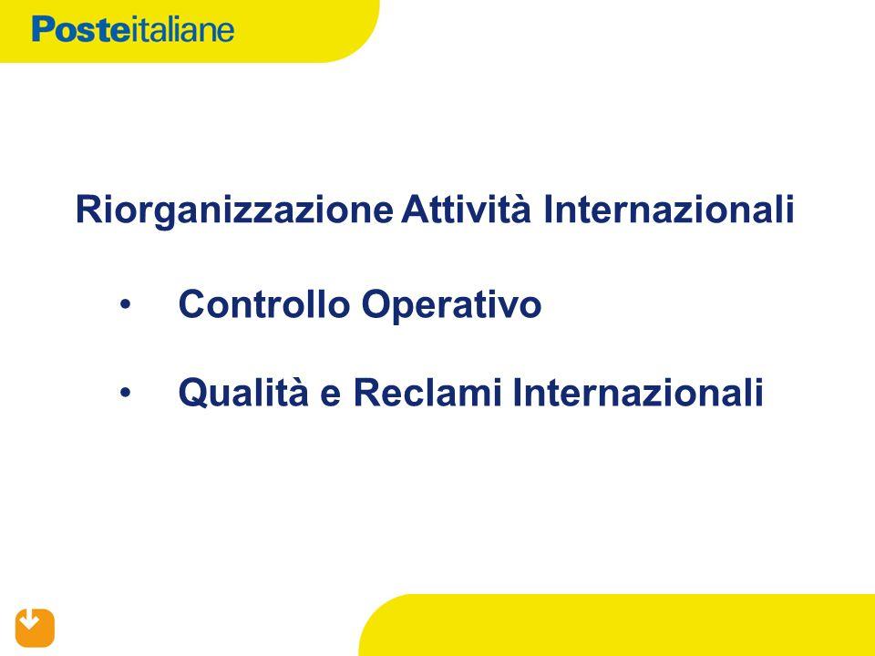 Riorganizzazione Attività Internazionali