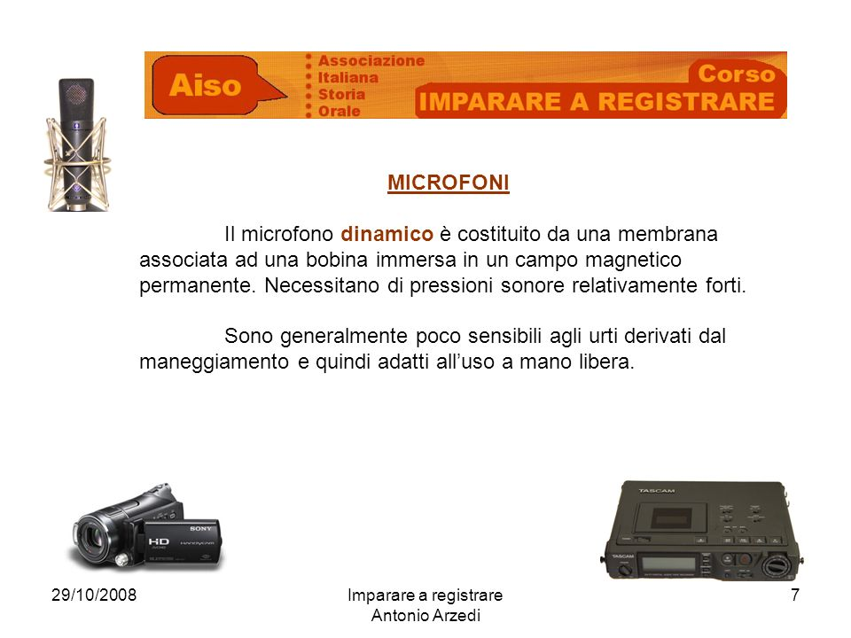 Imparare a registrare Antonio Arzedi