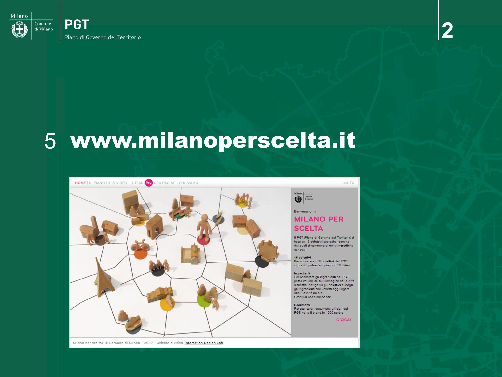 2 www.milanoperscelta.it 5