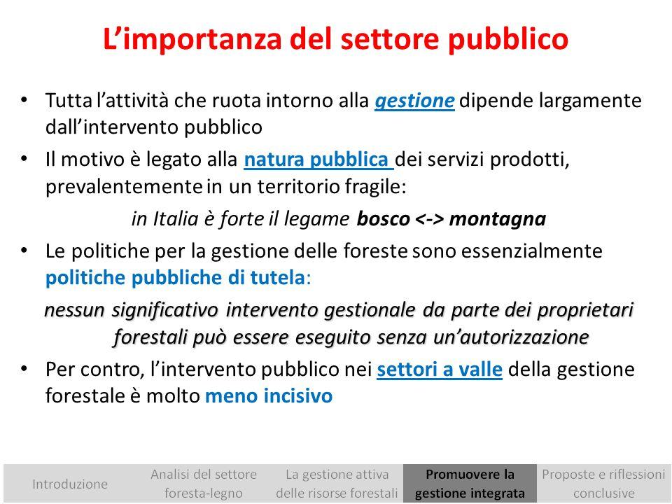 L'importanza del settore pubblico