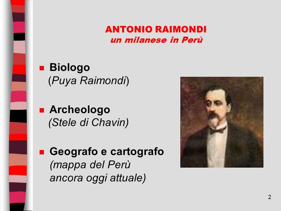 ANTONIO RAIMONDI un milanese in Perù