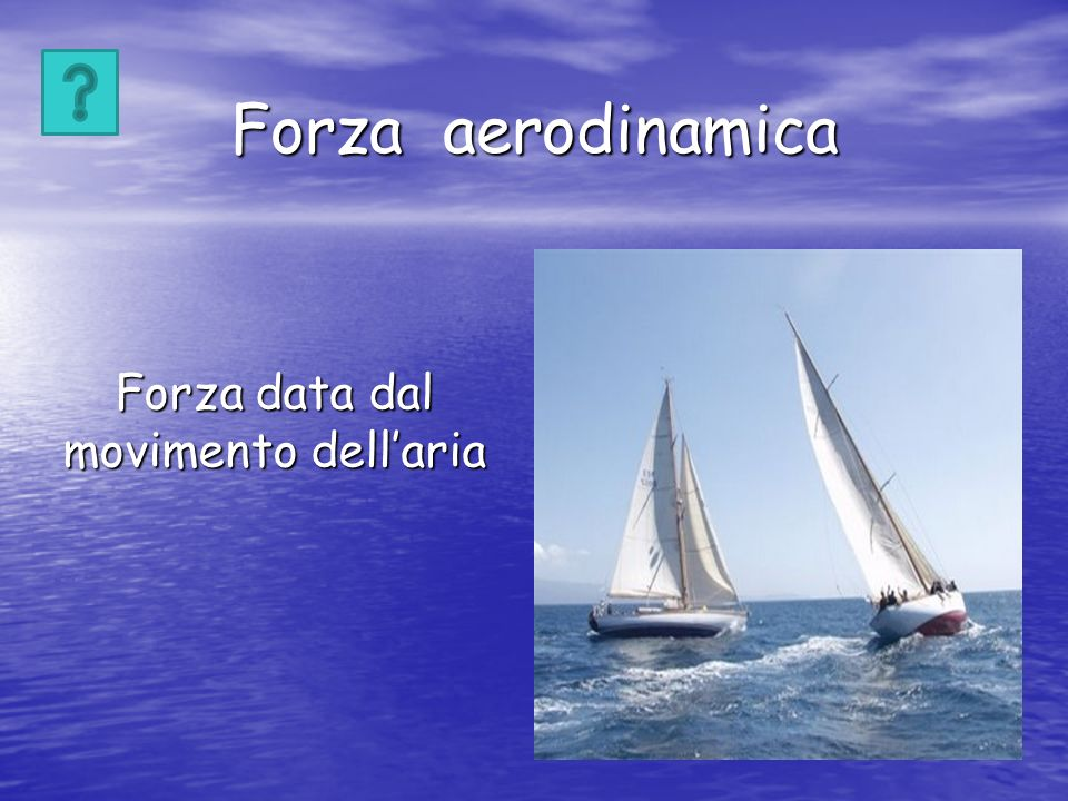 Forza data dal movimento dell'aria