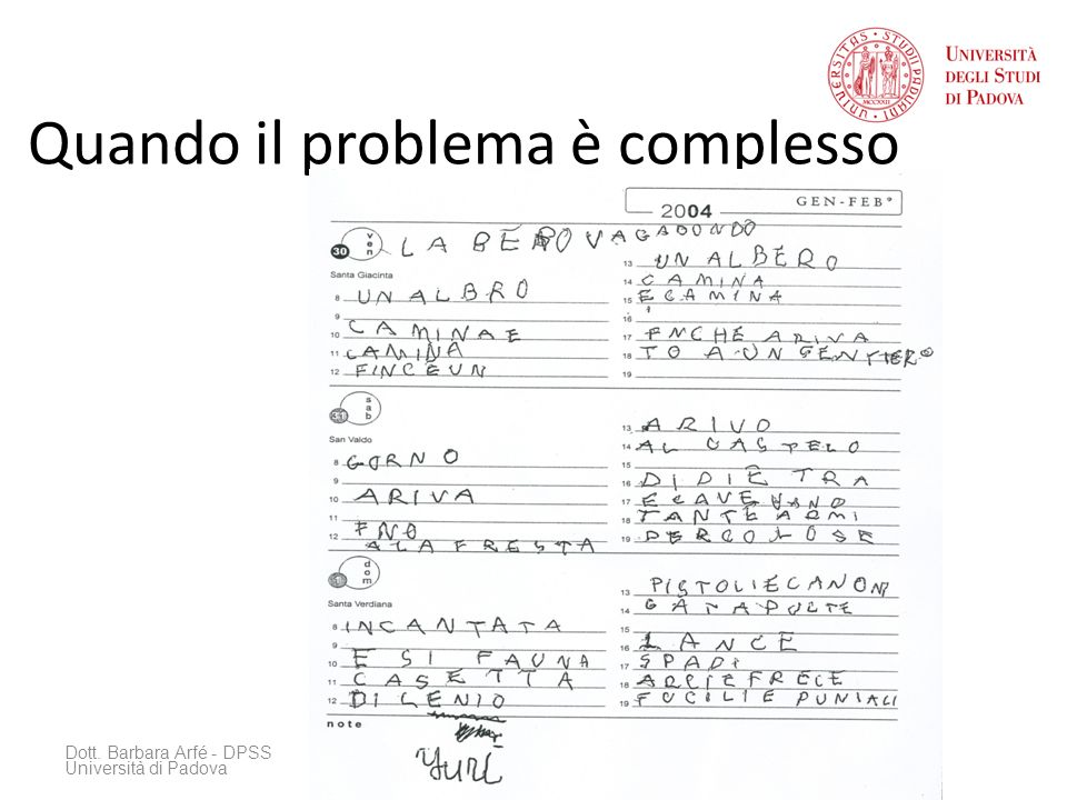 Quando il problema è complesso