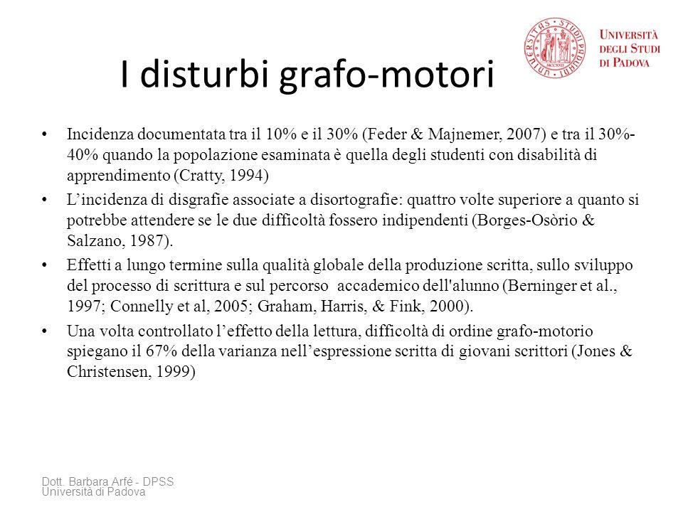 I disturbi grafo-motori