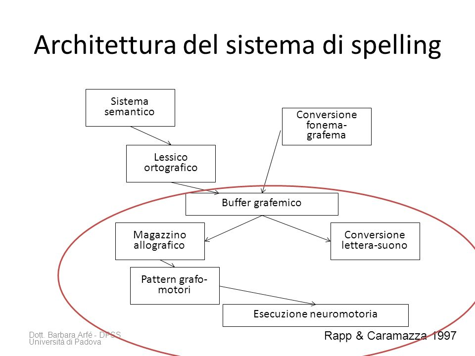 Architettura del sistema di spelling