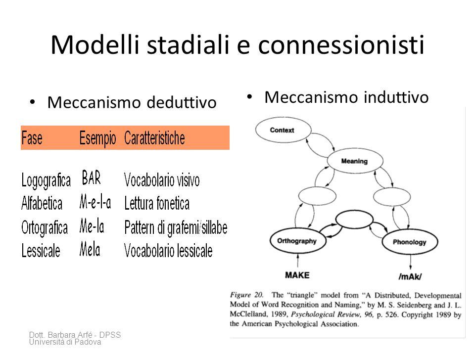 Modelli stadiali e connessionisti