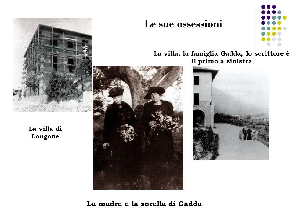 La villa, la famiglia Gadda, lo scrittore è il primo a sinistra