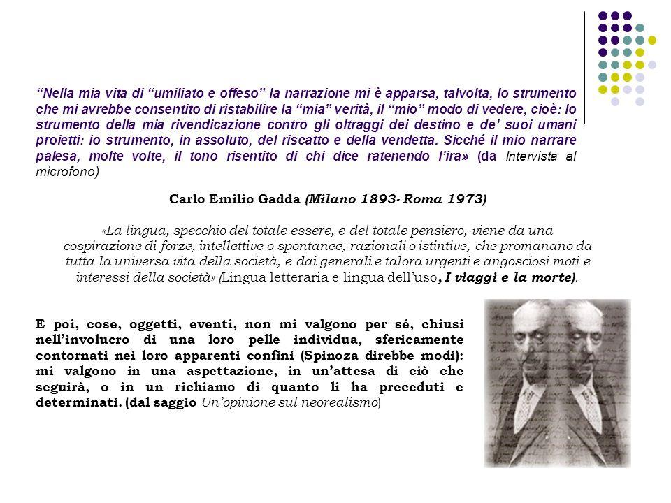 Carlo Emilio Gadda (Milano 1893- Roma 1973)