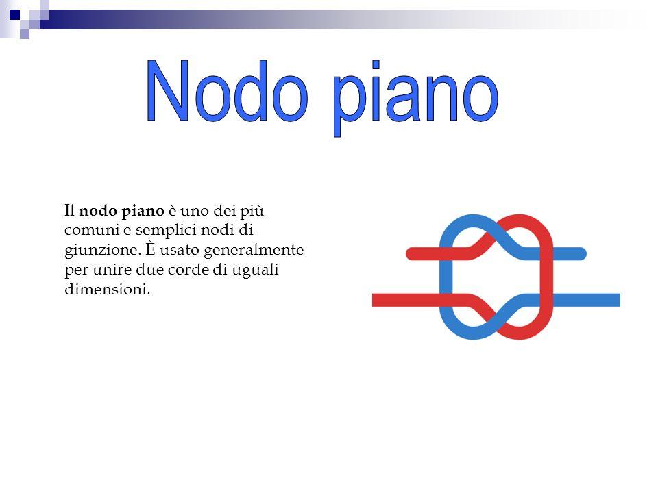 Nodo piano Il nodo piano è uno dei più comuni e semplici nodi di giunzione.