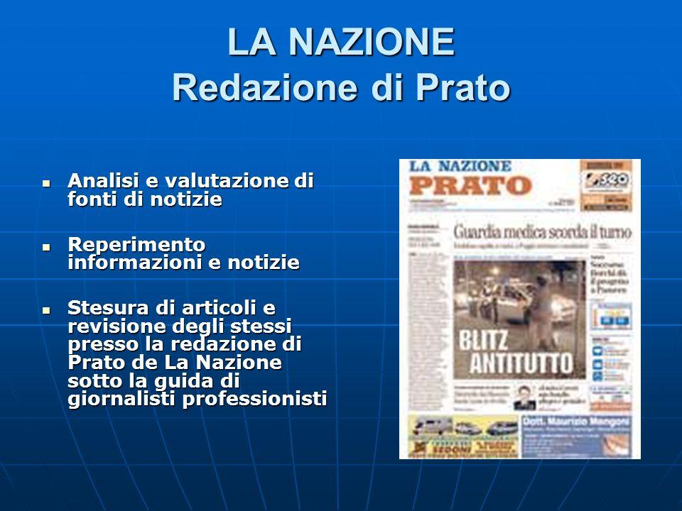 LA NAZIONE Redazione di Prato