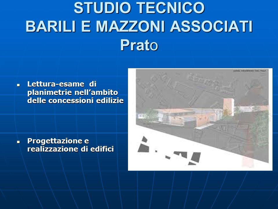 STUDIO TECNICO BARILI E MAZZONI ASSOCIATI Prato