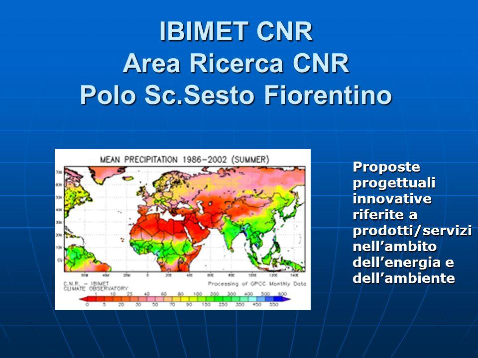 IBIMET CNR Area Ricerca CNR Polo Sc.Sesto Fiorentino