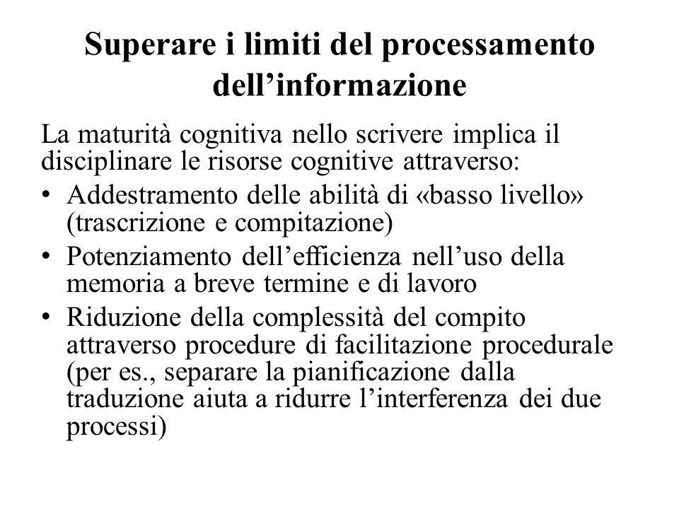 Superare i limiti del processamento dell'informazione