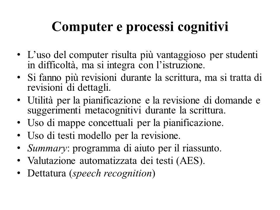 Computer e processi cognitivi