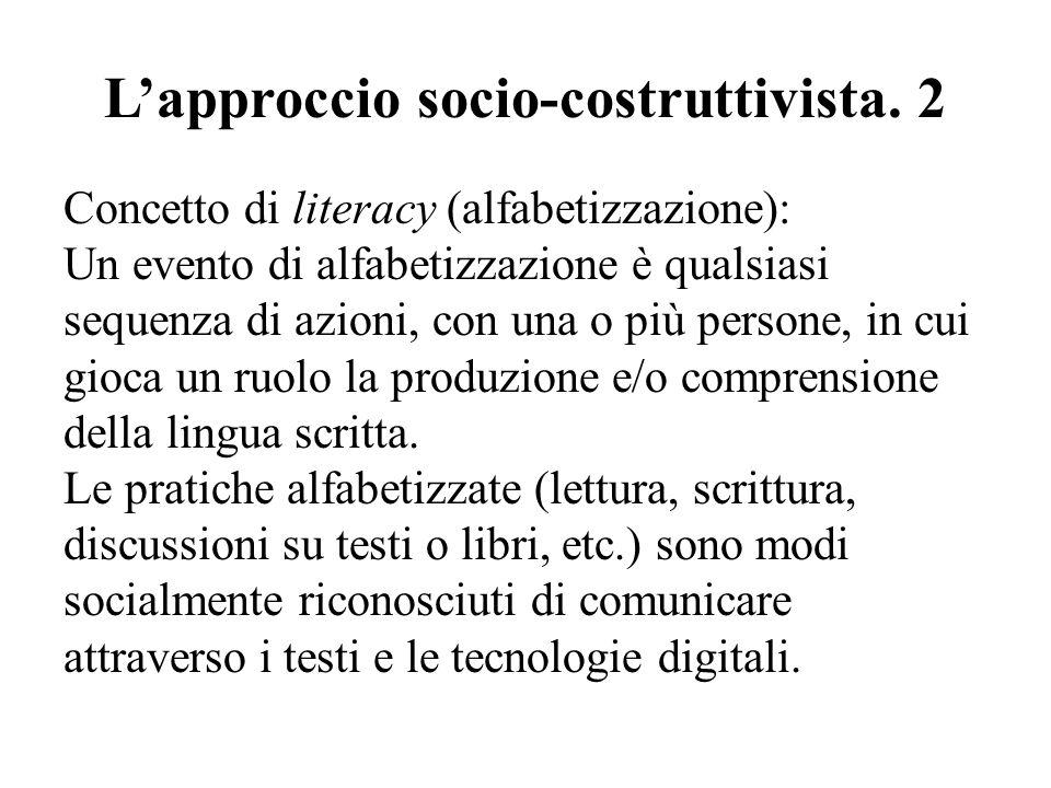 L'approccio socio-costruttivista. 2