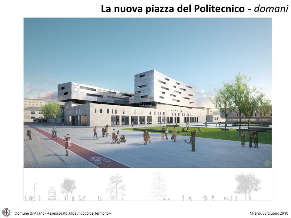 La nuova piazza del Politecnico - domani