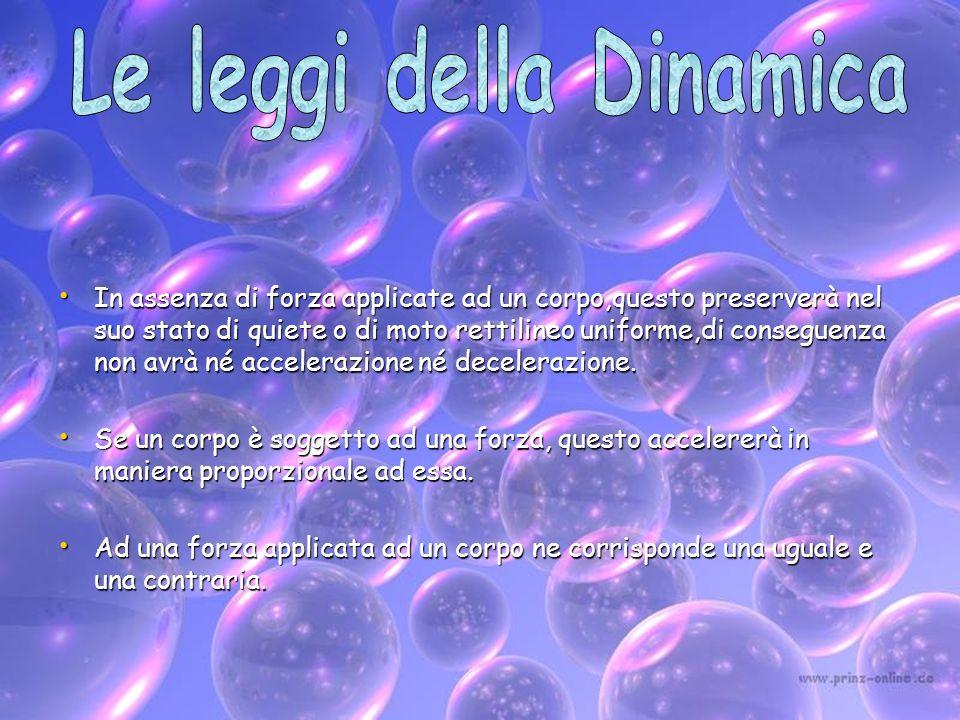 Le leggi della Dinamica