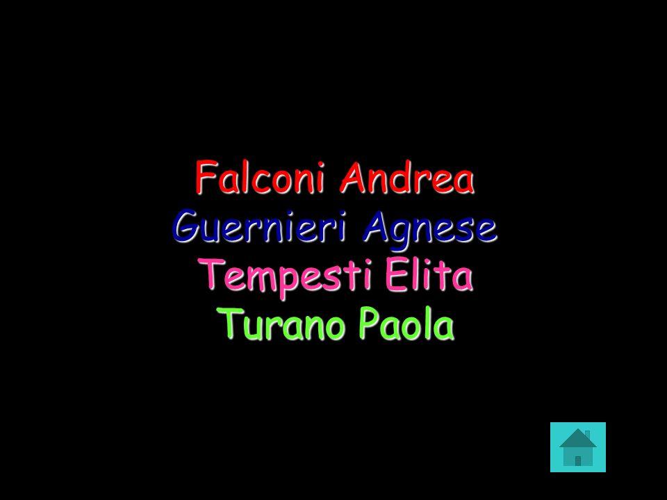 Falconi Andrea Guernieri Agnese Tempesti Elita Turano Paola