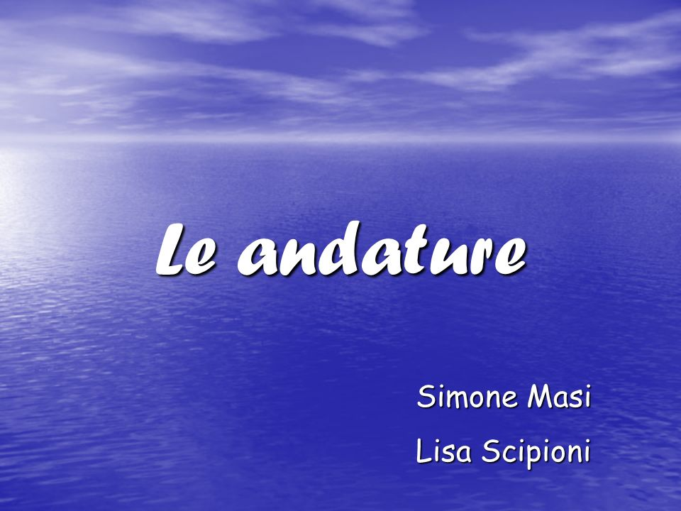 Le andature Simone Masi Lisa Scipioni