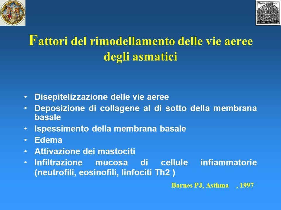 Fattori del rimodellamento delle vie aeree degli asmatici