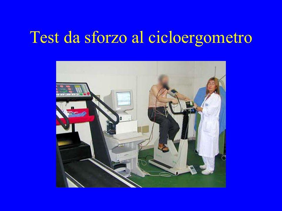 Test da sforzo al cicloergometro