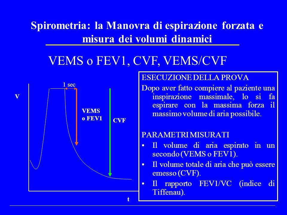 Spirometria: la Manovra di espirazione forzata e misura dei volumi dinamici