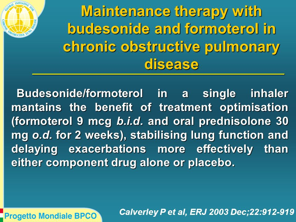 Maintenance therapy with budesonide and formoterol in chronic obstructive pulmonary disease