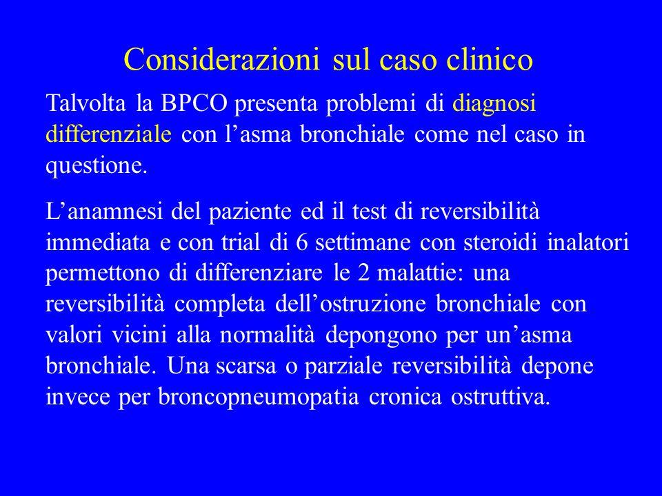 Considerazioni sul caso clinico
